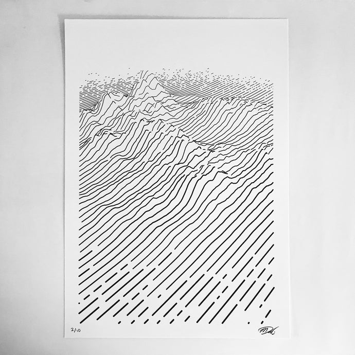 (POS) dune — Limited Edition Screen Print (A3)