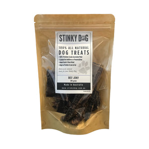 Dog Treats - 100% Natural Slow Dried Beef Jerky 100g