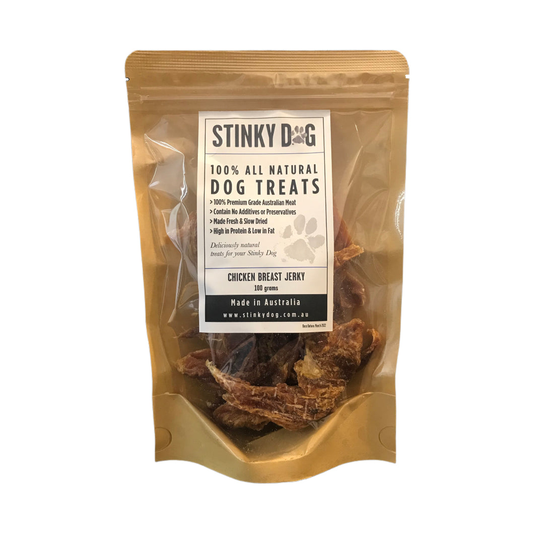 Dog Treats - 100% Natural Slow Dried Chicken Jerky 100g