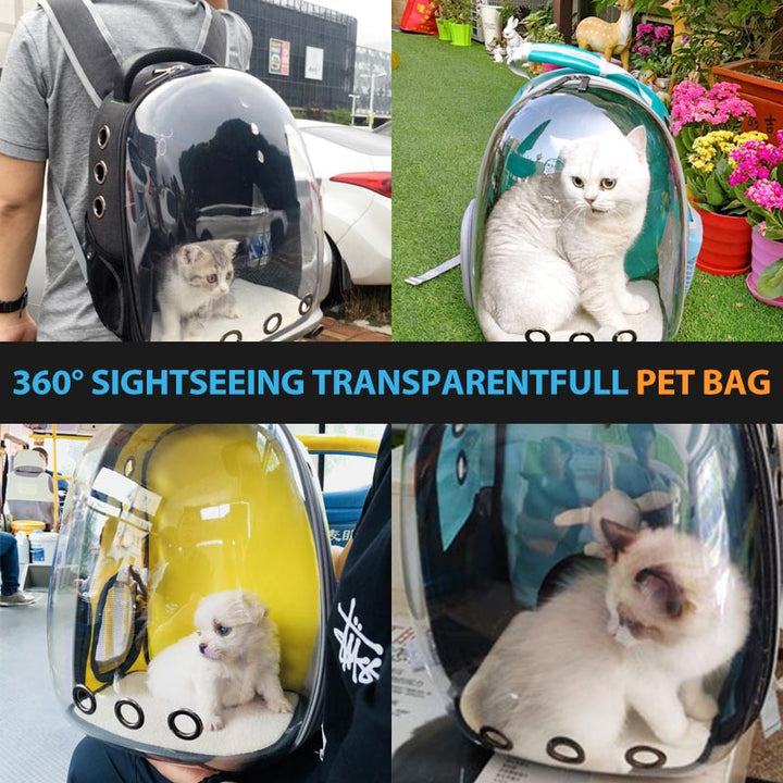 360° Sightseeing Transparent Breathable Pet Travel Bag