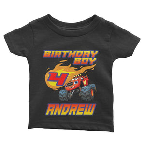 Blaze Birthday Shirt for Kids [Cuztom] - Cuztom Threadz