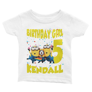 Minions Birthday Shirt for Kids [Cuztom] - Cuztom Threadz