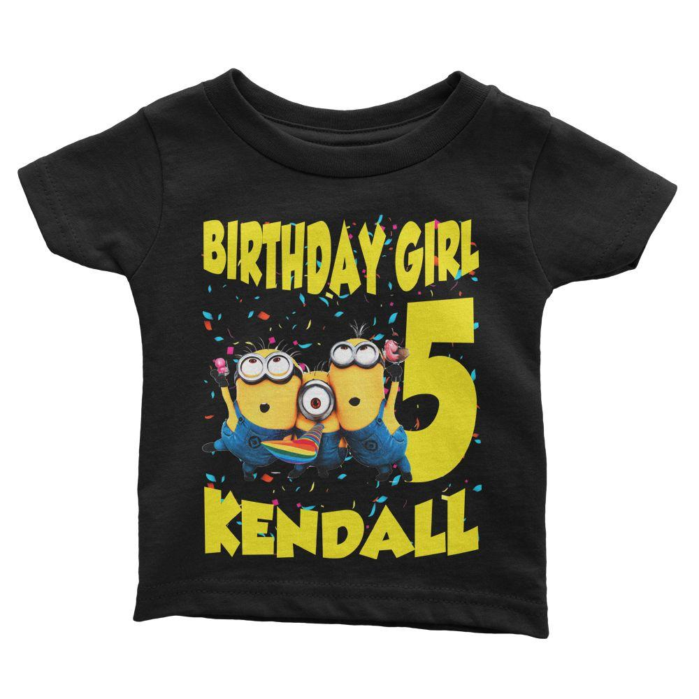 Minions Birthday Shirt for Kids [Cuztom]