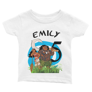 Moana Birthday Shirt for Kids [Cuztom] - Cuztom Threadz