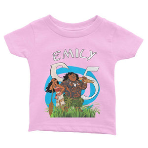 Moana Birthday Shirt for Kids [Cuztom]