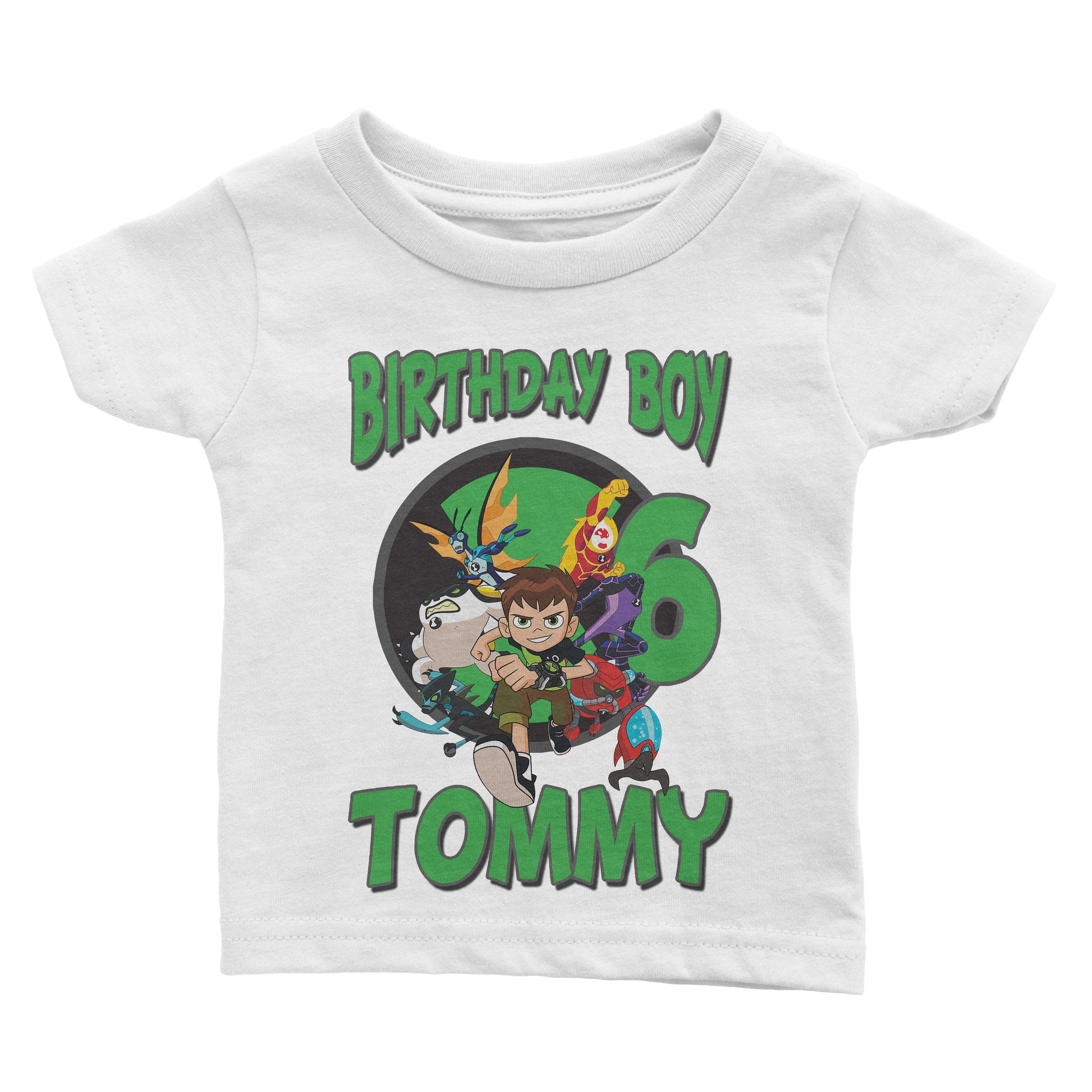 Load Image Into Gallery Viewer Personalize Ben 10 Birthday Shirt