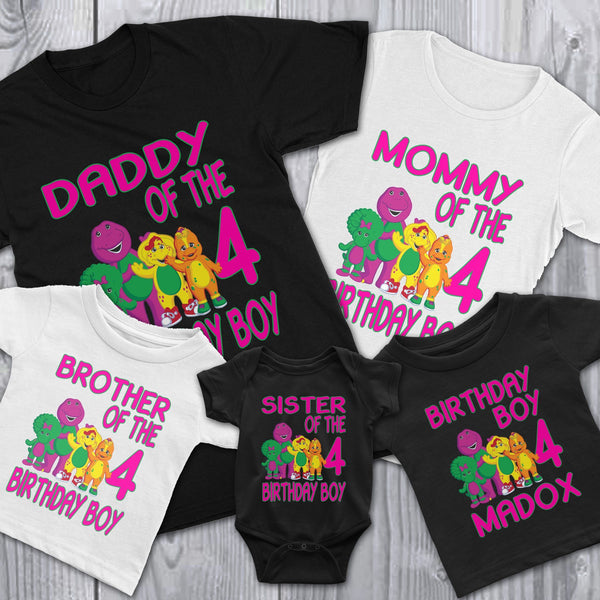 Personalize Barney Birthday Shirt