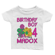 Load image into Gallery viewer, Personalize Barney Birthday Shirt