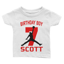 Load Image Into Gallery Viewer Personalize Basketball Air Jordan Birthday Shirt