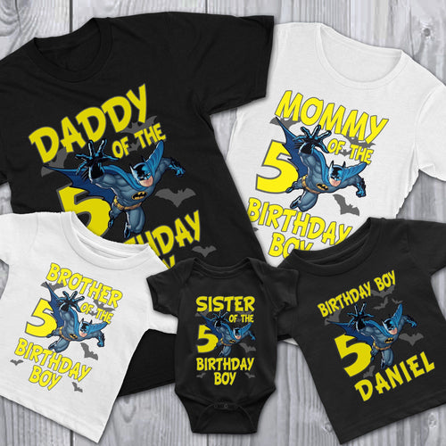 Personalize Batman Birthday Shirt