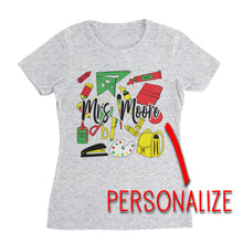 Load image into Gallery viewer, Personalize Teacher T-Shirt (Unisex)