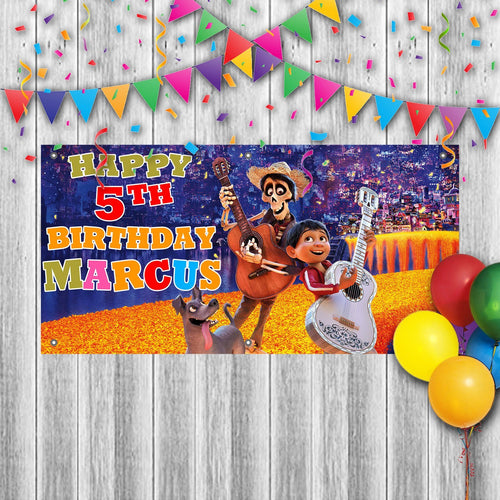 Personalized Coco Birthday Banner Weatherproofing