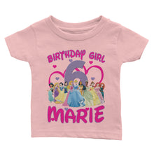Load Image Into Gallery Viewer Personalize Disney Princess Birthday Shirt