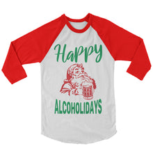 Load image into Gallery viewer, Christmas Shirt - Happy Alcholidays (Unisex)
