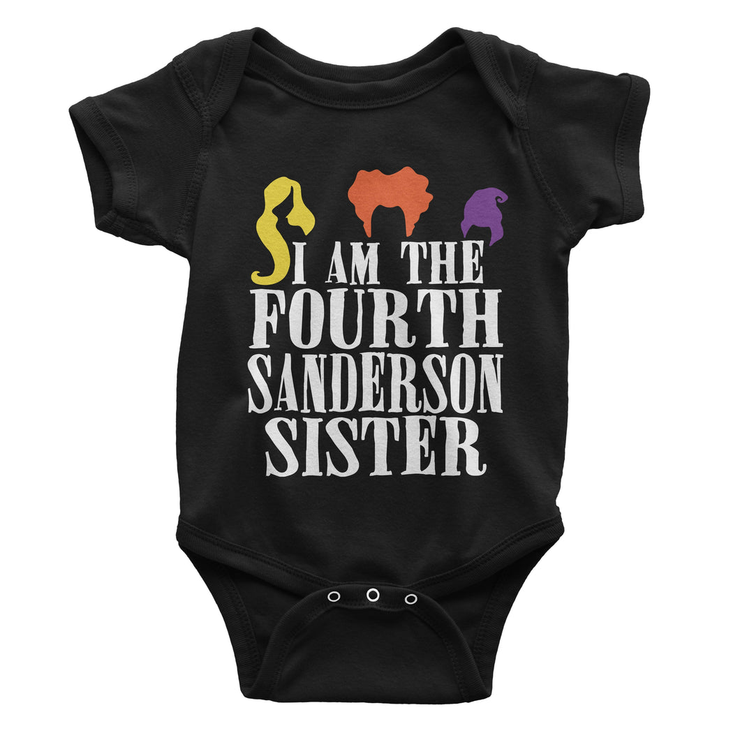 Hocus Pocus I Am The Fourth Sanderson Sister Halloween One-Piece (Infant)