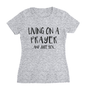 Prayer and Juice Box Mom T-Shirt (Unisex)