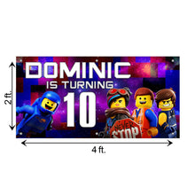 Load image into Gallery viewer, Custom Lego Birthday Banner Weatherproofing