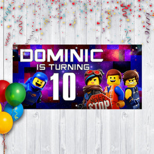 Custom Lego Birthday Banner Weatherproofing