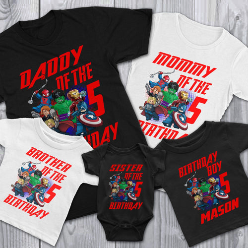 Personalize Lego Avengers Birthday Shirt