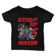 Load image into Gallery viewer, Personalize Lego Avengers Birthday Shirt