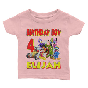 Personalize Mickey Mouse Racer Birthday Shirt