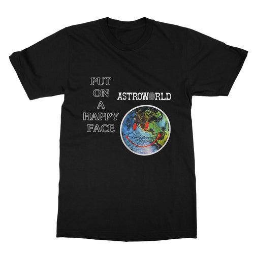 Happy Face Astroworld Travis Scott T-Shirt (Men)
