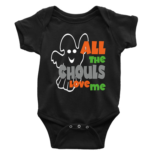 All The Ghouls Love Me Halloween One-Piece (Infant)