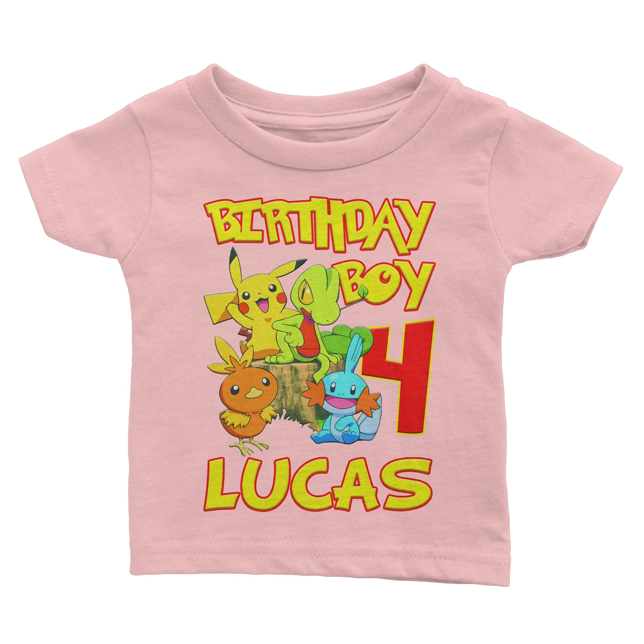 a6c94e269 ... Load image into Gallery viewer, Personalize Pokemon Birthday Shirt ...