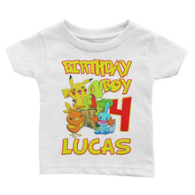 Load image into Gallery viewer, Personalize Pokemon Birthday Shirt