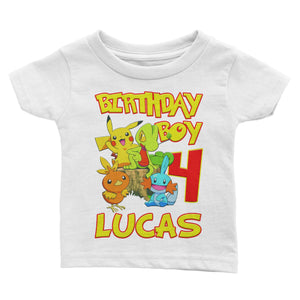 Personalize Pokemon Birthday Shirt
