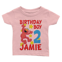 Load image into Gallery viewer, Personalize Sesame Street Elmo Birthday Shirt