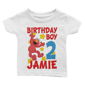 Personalize Sesame Street Elmo Birthday Shirt