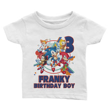 Load image into Gallery viewer, Custom Sonic Birthday Shirt