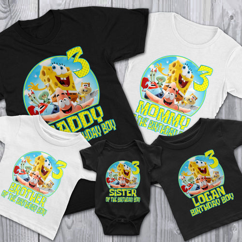Custom Spongebob Birthday Shirt
