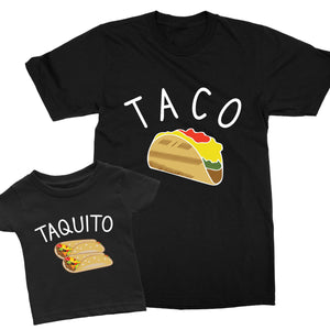 Taco Taquito Matching Father Son T-Shirts