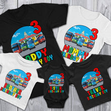Load image into Gallery viewer, Custom Tayo Little Bus Birthday Shirt