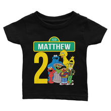 Load image into Gallery viewer, Sesame Street Birthday Shirt for Kids [Cuztom] - Cuztom Threadz
