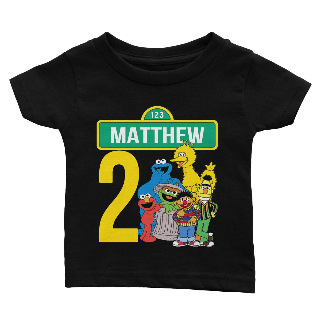 Sesame Street Birthday Shirt for Kids [Cuztom] - Cuztom Threadz