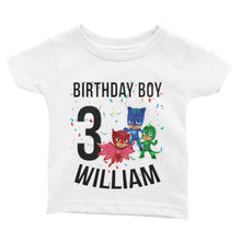 Load image into Gallery viewer, PJ Mask Birthday Shirt for Kids [Cuztom] - Cuztom Threadz