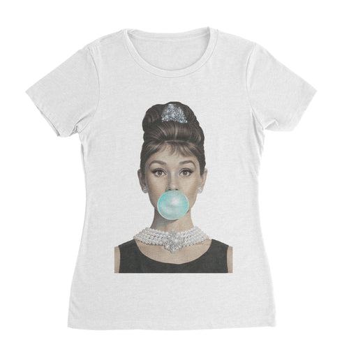 Bubble Gum Audrey Hepburn T-Shirt (Woman)