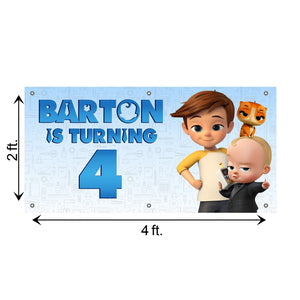 Custom Birthday Boss Baby Banner Weatherproofing