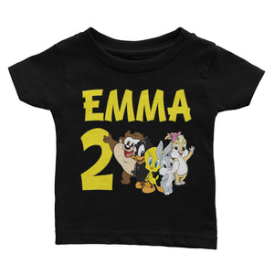 Personalized Baby Looney Tunes Birthday Shirt
