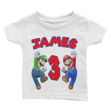 Load image into Gallery viewer, Personalized Super Mario Birthday Shirt