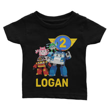 Load image into Gallery viewer, Personalized Robocar Poli Birthday Shirt