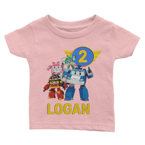 Personalized Robocar Poli Birthday Shirt
