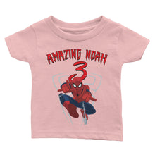 Load image into Gallery viewer, Personalized Spiderman Birthday Shirt