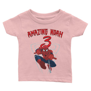 Personalized Spiderman Birthday Shirt