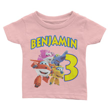 Load image into Gallery viewer, Personalized Super Wing Birthday Shirt
