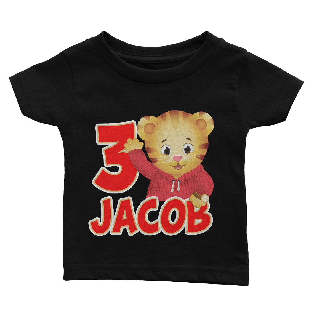 Personalized Daniel The Tiger Birthday Shirt