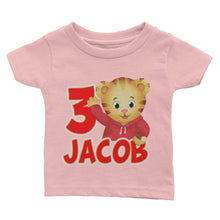Load image into Gallery viewer, Personalized Daniel The Tiger Birthday Shirt